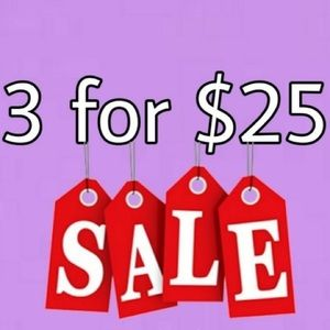 Any 3 Ties for $25